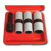 AST 78803 Impact Socket Set 4 Piece 1/2 in. Drive Thin Wall Flip with Protective Sleeves