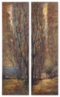 Tree Panels Wall Art, Set Of 2