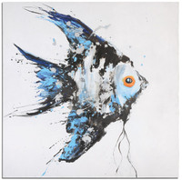 Blue Angel Ocean Fish Wall Art