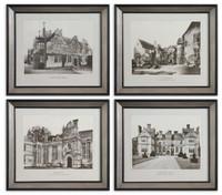 English Cottage Wall Art, Set Of 4