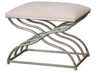 Shea Satin Nickel Small Bench