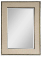 Marilla Beaded Silver Mirror