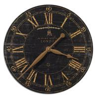 """Bond Street 18"""" Black Wall Clock"""