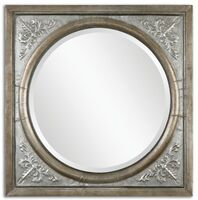 Ireneus Burnished Silver Mirror