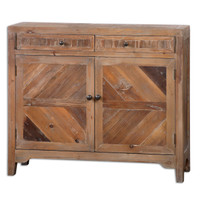 Hesperos Reclaimed Wood Console Cabinet
