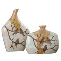 Pajaro Ceramic Vases S/2