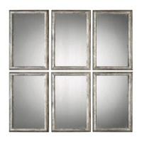 Alcona Antiqued Silver Mirrors S/3