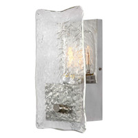 Cheminee 1 Light Textured Glass Sconce