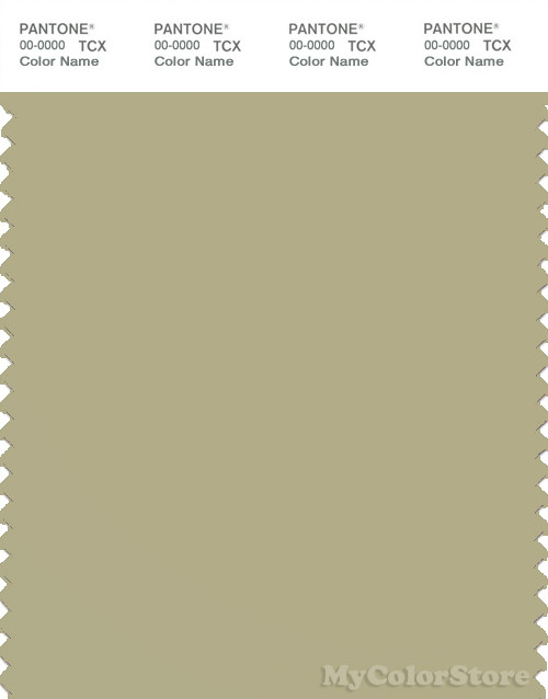 PANTONE SMART 15-0318X Color Swatch Card, Sage Green