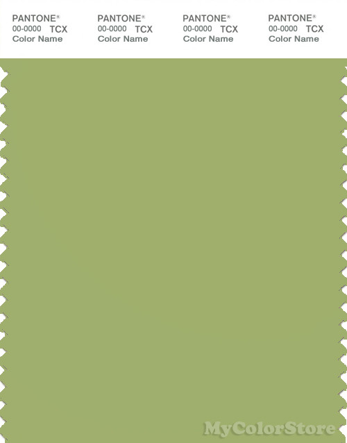 PANTONE SMART 15-0332X Color Swatch Card, Leaf Green