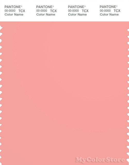 Pantone Smart Tcx Color Swatch Card Candlelight Peach