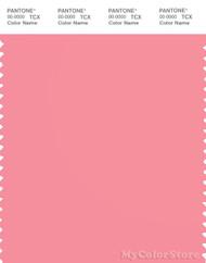 PANTONE SMART 15-1922X Color Swatch Card, Geranium Pink