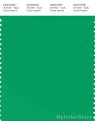 PANTONE SMART 15-5534X Color Swatch Card, Bright Green