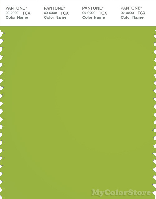 PANTONE SMART 16-0230X Color Swatch Card, Macaw Green