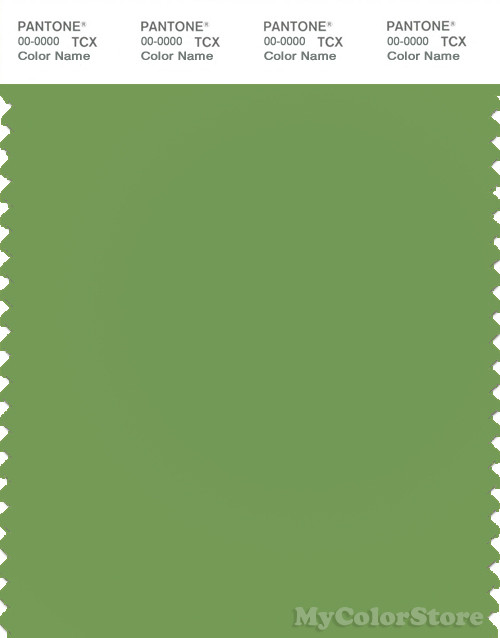PANTONE SMART 16-0233X Color Swatch Card, Meadow Green