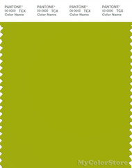 PANTONE SMART 16-0435X Color Swatch Card, Dark Citron