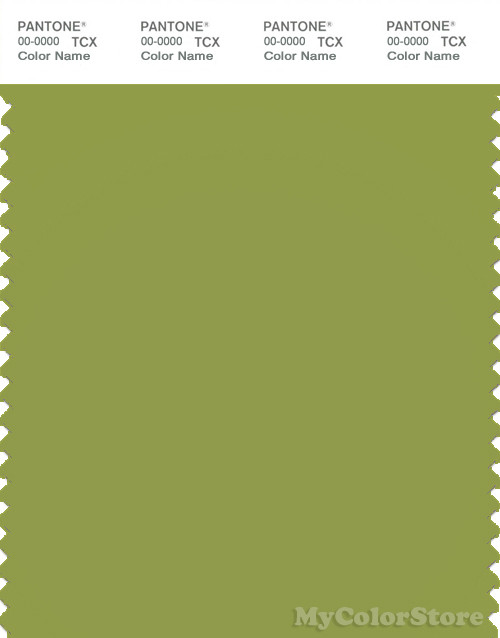PANTONE SMART 16-0439X Color Swatch Card, Spinach Green
