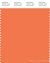 PANTONE SMART 16-1349X Color Swatch Card, Coral Rose