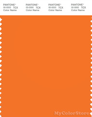 PANTONE SMART 16-1356X Color Swatch Card, Persimmon Orange