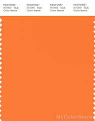 PANTONE SMART 16-1359X Color Swatch Card, Orange Peel