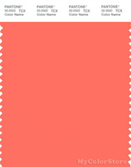 PANTONE SMART 16-1546X Color Swatch Card, Living Coral
