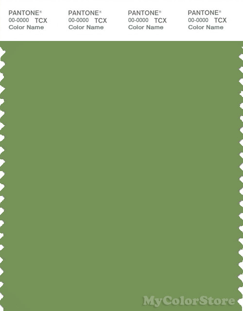 PANTONE SMART 17-0235X Color Swatch Card, Piquant Green