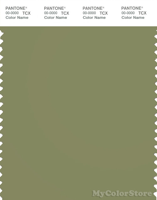 PANTONE SMART 17-0525X Color Swatch Card, Mosstone