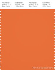 PANTONE SMART 17-1360X Color Swatch Card, Celosia Orange
