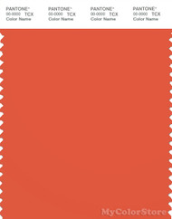 PANTONE SMART 17-1456X Color Swatch Card, Tigerlily