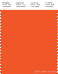 PANTONE SMART 17-1464X Color Swatch Card, Red Orange