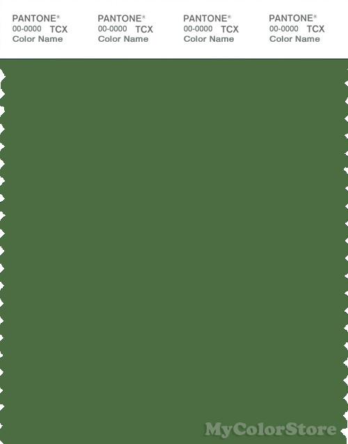 PANTONE SMART 18-0125X Color Swatch Card, Artichoke Green