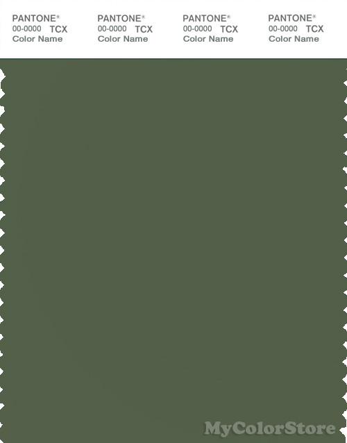 PANTONE SMART 18-0317X Color Swatch Card, Bronze Green
