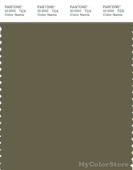 PANTONE SMART 18-0521X Color Swatch Card, Burnt Olive