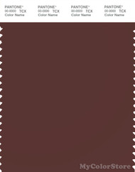 PANTONE SMART 19-1321X Color Swatch Card, Deep Red Brown