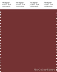 PANTONE SMART 19-1338X Color Swatch Card, Russet Brown