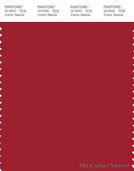 PANTONE SMART 19-1559X Color Swatch Card, Scarlet Sage