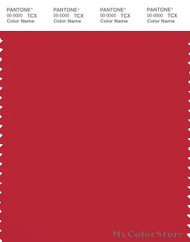 PANTONE SMART 19-1663X Color Swatch Card, Ribbon Red