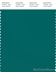 PANTONE SMART 19-4922X Color Swatch Card, Teal Green
