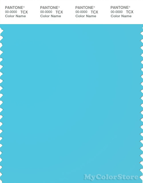 PANTONE SMART 14-4530TN Color Swatch Card, Bluefish