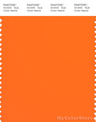 PANTONE SMART 15-1460TN Color Swatch Card, Orange Clown Fish