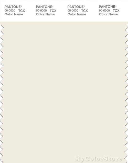 PANTONE SMART 11-0103X Color Swatch Card, Egret