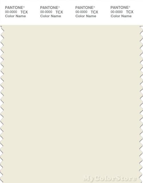 PANTONE SMART 11-0104X Color Swatch Card, Vanilla Ice