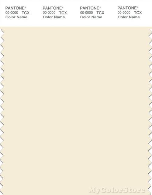 PANTONE SMART 11-0107X Color Swatch Card, Papyrus
