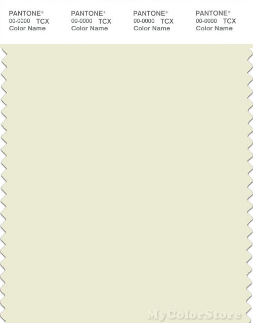 PANTONE SMART 11-0205X Color Swatch Card, Glass Green