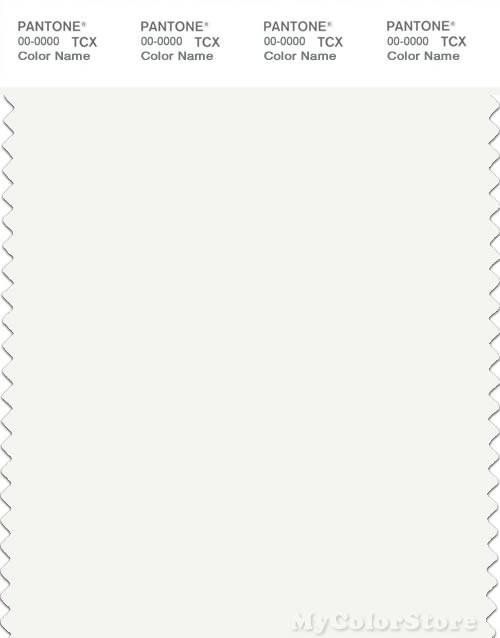 PANTONE SMART 11-0601X Color Swatch Card, Bright White