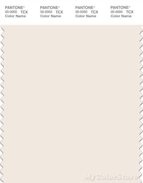 PANTONE SMART 11-0604X Color Swatch Card, Gardenia