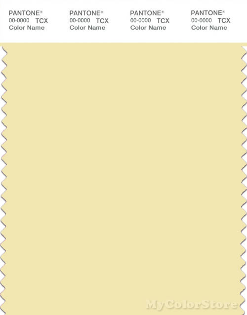 PANTONE SMART 11-0616X Color Swatch Card, Pastel Yellow