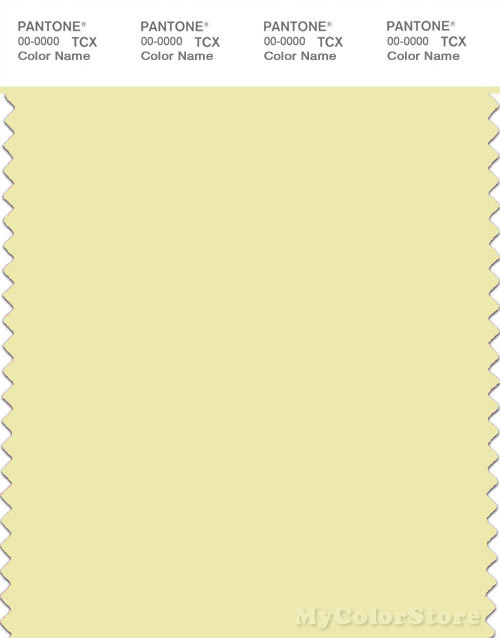 PANTONE SMART 11-0618X Color Swatch Card, Wax Yellow