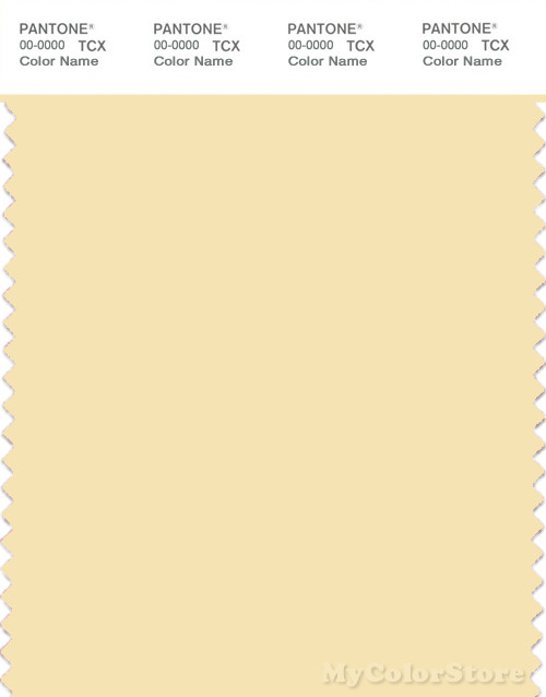 PANTONE SMART 11-0619X Color Swatch Card, Flan