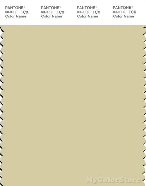PANTONE SMART 12-0418X Color Swatch Card, Hay